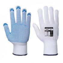 A110WBRXS-XXL    Nylon kesztyű PVC pontozott  nylon, PVC  fehér / kék   XS-XXL  (PW)