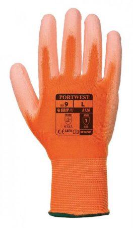 A120O1RXS   Nylon kesztyű PU tenyérmártott  nylon, PU  narancs    XS-2XL  (PW)