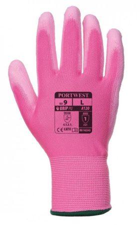 A120P9RS   Nylon kesztyű PU tenyérmártott  nylon, PU  rózsaszín    S-L  (PW)