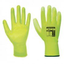 A120Y2RXS   Nylon kesztyű PU tenyérmártott  nylon, PU  sárga    XS-2XL  (PW)