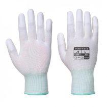 A121WHRXS   PU ujjvégmártott kesztyű  nylon, PU  fehér    XXS-XL  (PW)