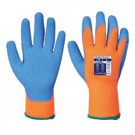 A145OBLM-XXL    Hűtőházi kesztyű  Akril/Latex  narancs / kék    M-XXL  (PW)