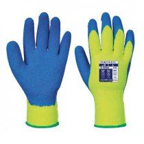 A145Y4RL-XXL    Hűtőházi kesztyű  Akril/Latex  sárga / kék    L-XXL  (PW)