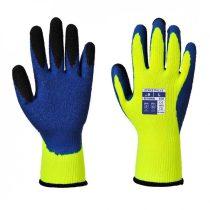 A185Y4RM   Duo-Term kesztyű  Poliészter, Latex (gumitej, kaucsuktej)  sárga / kék    M-2XL  (PW)