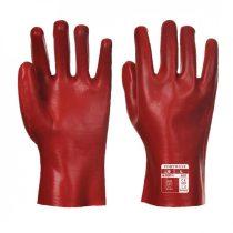 A427RERXL   PVC hosszú szárú kesztyű 27 cm  pamut, PVC  piros    XL  (PW)