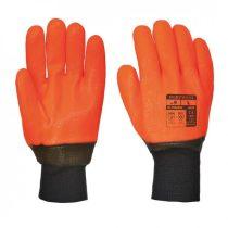 A450ORRXL    Vízálló láthatósági kesztyű  PVC, pamut  narancs    XL  (PW)