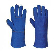 A510BLUXL    Hegesztő hosszú szárú kesztyű  Marhabőr, pamut  kék    XL  (PW)