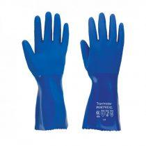A880BLUL   Vegyszerálló védőkesztyű 30cm  PVC, pamut  kék    L-XL  (PW)