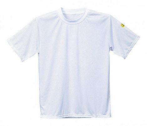 AS20WHRS   Antisztatikus, ESD póló  96% poliészter 4% szénszál 195g  fehér    S  (PW)