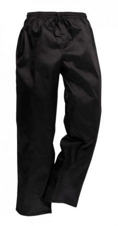 C070BKR4XL   Szakács nadrág húzózsinórral  Kingsmill 65% poliészter / 35% pamut 245g  fekete    4XL  (PW)