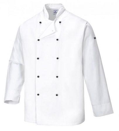 C831WHRXXL   Cornwall séf kabát  Kingsmill, Texpel 65% poliészter 35% pamut 245g, Texpel  fehér    2XL  (PW)