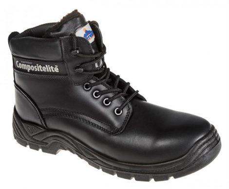 FC12BKR43   Compositelite szőrmebéléses védőbakancs, S3 CI  Prémium bőr  fekete    43  (PW)