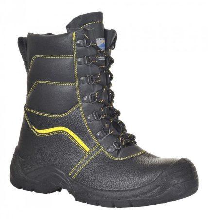 FW05BKR37-48   Steelite szőrmebéléses védőbakancs, S3 CI  Marhabőr       PU/TPU - Talp F03  fekete    37-48  (PW)