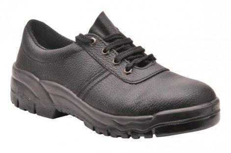 FW14BKR47   Steelite félcipő, S1P  hasított marhabőr bőr  fekete    47  (PW)
