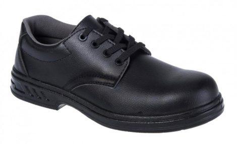 FW80BKR36   Vízálló fűzős védőcipő, S2  30 fokon gépileg mosható, de nem centrifugálható un. Microfibre anyag  fekete    36  (PW)