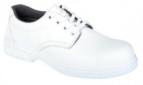FW80WHR42   Vízálló fűzős védőcipő, S2  30 fokon gépileg mosható, de nem centrifugálható un. Microfibre anyag  fehér    42  (PW)