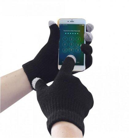 GL16BKRM-XXXL    Touchscreen (kapacitív kesztyű, érintőképernyős eszközökhöz) kötött kesztyű  100% Akril  fekete    S/M-L/XL-2XL/3XL  (PW)