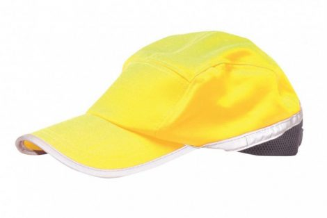 HB10YNR    Jól láthatósági baseball sapka  65% poliészter, 35% pamut  sárga / tengerészkék    -  (PW)