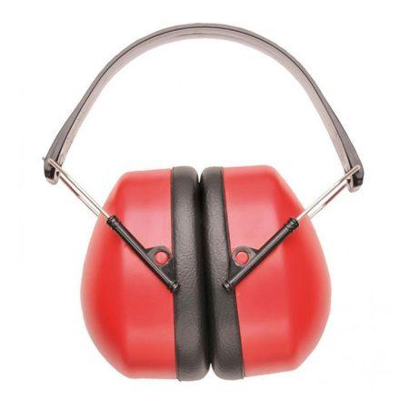 PW41RER   Szuper fülvédő  nagy erősségű polisztirol csésze & PVC párnák  piros    -  (PW)