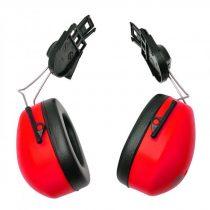 PW42RER   Sisakra szerelhető fültok  nagy erősségű polisztirol csésze & PVC párnák  piros    -  (PW)