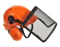 PW98ORR   Hemlock combi szett  ABS sisak, rostély, ABS/Polisztrén  hallásvédő  narancs    -  (PW)