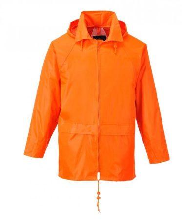 S440ORRXXXL   Klasszik esődzseki  100% poliészter PVC bevont (150g)  narancs    3XL  (PW)