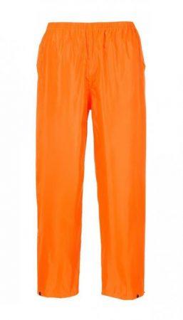S441ORRM   Klasszik esőnadrág  100% poliészter PVC bevont (150g)  narancs    M  (PW)