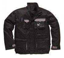 TX10BKRXS-XXXL   Texo kétszínű kabát  60% pamut, 40% poliészter  fekete    XS-XXXL  (PW)
