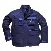 TX10NARXS-3XL   Texo kétszínű kabát  60% pamut, 40% poliészter  tengerészkék    XS-3XL  (PW)